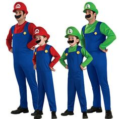 Adult Men Super Mario Brothers Costume Children Kids Cosplay Women Christmas Day Halloween S,M,L,XL,XXL,XXXL,XXXXL Costumes
