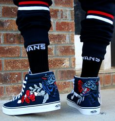 9373691a9 Custom Wolf Vans. You re sure to stand out from the crowd with these