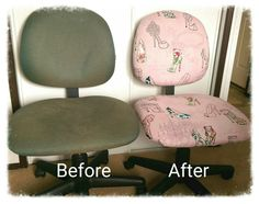 Recovered old ugly office chair