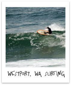 Surfing Westport, Washington