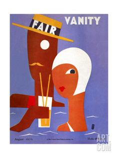 Vanity Fair Cover - August 1929 Art Print by Eduardo Garcia Benito at Art.com