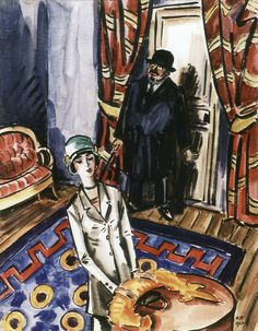 by Frans Masereel (Belgian 1889 - Watercolor Paintings, Watercolours, Modern Art, Bobs, Fictional Characters, Portraits, People, Paintings, Crow