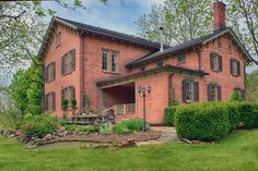 This heroic century brick center hall beauty, listed on the National Registry of Historic Places, has been restored to its original splendor and beyond. Every room is finished with honesty and… New Paltz Ny, Center Hall Colonial, Real Estate Buyers, American Houses, Old Houses For Sale, Outdoor Living Rooms, Ship Lap Walls, Old House Dreams, My Dream Home