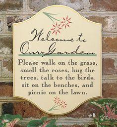 9392: Garden Pleasures Sign/Welcome (Product Detail)