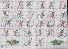alfabeto fiorellini piccoli