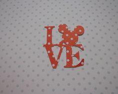 LOVE - Aplique para festa do MICKEY