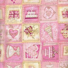 Pink wedding prints 100% Cotton Fabric By the Yard in Other | eBay