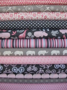 These would make a great modern baby girl quilt.