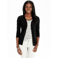 Old Navy Womens 3/4 Sleeved V Neck Cardigans ($15) ❤ liked on Polyvore