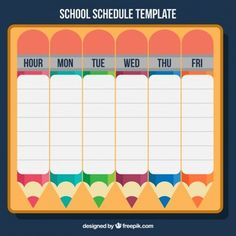 20 best school schedule ideas images on pinterest school schedule students weekly itinerary and schedule templates maxwellsz