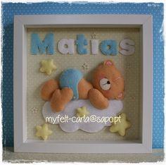 Un delicado marco para Matias, que acaba de nacer!