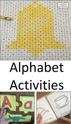 This alphabet bundle contains activities to learn each letter of the alphabet individually through games, crafts, printables, and activities. Students will learn their abc's using fun, engaging, hands-on ways in high repetition to truly master each letter. Research shows alphabet knowledge is one of the best predictors to reading success. With 20 different ways to learn the letter in fun ways students will master all their abc's in meaningful ways.