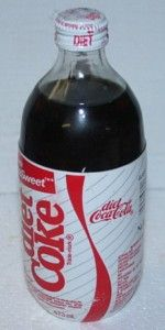 Fond memories of the Diet Coke bottles with the sytrofoam lables that we always peeled off.