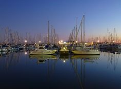 Blue hour at the marina poster.  Two of my favorite things, marinas and evening sky.