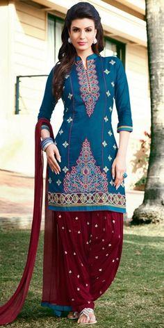 Indian Wardrobe is your ultimate destination for Fashionable ethnic women's clothes like Sarees, Salwar Kameez, Lehenga Sarees and Choli, Kurtis, Tunics and Salwar Suits. Patiala Salwar Suits, Cotton Salwar Kameez, Salwar Kameez Online, Punjabi Suits, Indian Sarees Online, Desi Clothes, India Fashion, Women's Fashion, Culture