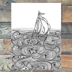 Braving the Seas - Illustration - Creative Christmas Gifts