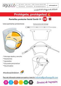 Pantallas protector facial Covid-19 Facial, Map, Screens, Dibujo, Facial Treatment, Facial Care, Maps, Peta, Face