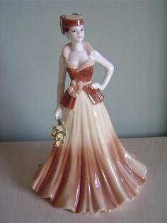 Coalport Figurine – Ladies of Fashion – Yvonne – Signed | eBay