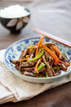 Szechuan Beef, this is a very popular beef dish served at Chinese restaurants in the US. Now you can make Szechuan Beef at home with this easy recipe.