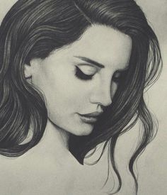 Lana Del Rey #LDR #art by Peter Curtis Discover The Secrets Of Drawing Realistic Pencil Portraits... http://pencil-portrait-mastery-today.blogspot.com?prod=dtBr9eeM