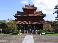 S3E12: Hien Lam Pavilion, Imperial City, Hue, Vietnam. Also known as the Pavilion of Glorious Coming, commemorates the lives and accomplishments of significant commoners who helped the Nguyens rule their empire. In front of the Hien Lam Pavilion stand nine urns - Dynasty Urns honoring the emperors who completed their reigns.