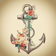 floral anchor tattoo - Google Search