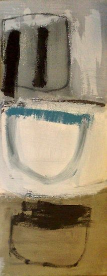 """Jai Llewellyn, """"Vitruvius"""", oil on paper"""