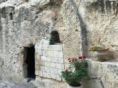 The Garden Tomb in Israel.  One of the most famous stops on the tour in the Holy Land.