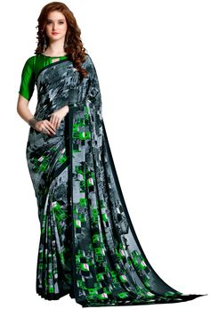 Shop black crepe traditional printed saree , freeshipping all over the world , Item code Phoenix Wings, Printed Sarees, Buy Prints, Saris, India Beauty, Indian Sarees, Sarees Online, Uae, Indian Actresses