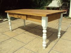 Shabby chic Farmhouse dining kitchen table Antique distressed /chairs/benches   eBay