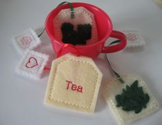 tea bags, my daughter is getting a Tea set for Christmas, will have to make some of these to go with it!