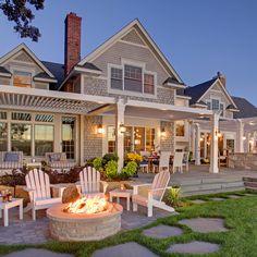 House Paint Exterior, Exterior Design, Outdoor Spaces, Outdoor Living, Outdoor Decor, Outdoor Furniture, Garden Gates And Fencing, Covered Patio Design, Pergola