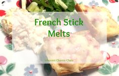 A great recipe using French Stick even when you think you can't French Stick Melts from Innocent Charms Chats Lunch Recipes, Great Recipes, Lunchbox Ideas, Cheap Meals, What To Cook, Sweet Desserts, Recipe Using, Quick Meals, Meal Ideas