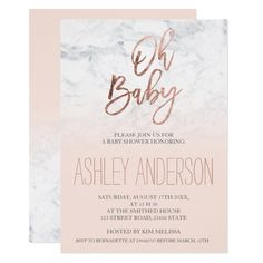 Faux rose gold typography marble blush Baby shower Card Customize these #navyblue #weddinginvitations Make your day special with these custom navy #wedding #invitations #cards and #stationary sets