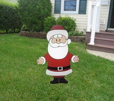 Santa from Rudolph the Red Nosed Reindeer  Wood Christmas Holiday Lawn Ornament. via Etsy.