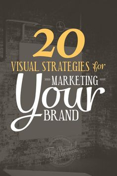 20 visual marketing strategies that will help you reap the rewards that come with visually communicating with your audience. This is a visual marketing resource that leaves no stone left unturned!