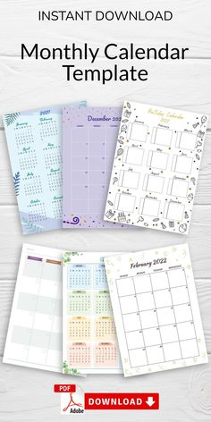 This Monthly Calendar will help you manage many of the things life throws at us. Getting organized and focused can make all the difference. You can download in PDF format in A4, A5, letter size and half letter size. #calendar #month #templates #blank #monthly Schedule Calendar, At A Glance Calendar, Printable Calendar 2020, Monthly Calendar Template, Daily Planner Printable, Planner Template, Daily Planner Pages, Hourly Planner, Print Format