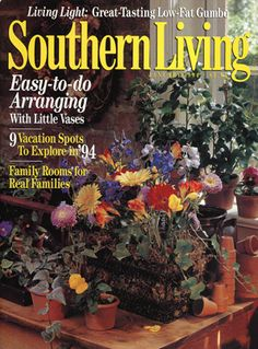 January 1994 | Easy To Do Arranging With Little Vases · Southern Living  MagazineVintage ...