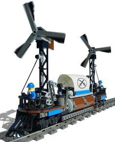 "LEGO Steampunk ""Cyclone"" Windmill Locomotive by Ɍaillery, via Flickr"