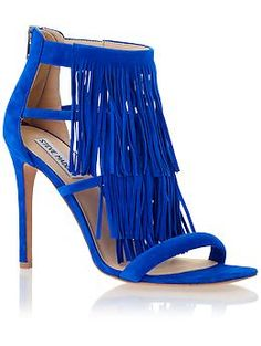 Steve Madden 'Fringly' in royal blue suede. My new obsession. -CHECK