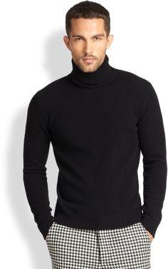 Gingham wool pants and Turtleneck