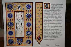 SCA: Turrel Michelovna's Laurel Scroll. Design and illumination by Susan Holt. Calligraphy by Jennifer Richardson.