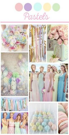 ideas for wedding colors blue mood boards # wedding themes pastel ideas for wedding colors blue mood boards Pastel Wedding Colors, Pastel Bridesmaids, Pastel Bridesmaid Dresses, Spring Wedding Colors, Wedding Color Schemes, Summer Wedding, Dream Wedding, Vintage Pastel Wedding, Pastel Weddings