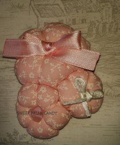 Hairclip pink. Handmade. Pasador Mod. acerico con lazos y cola de ratón. SP&C, hecho a mano