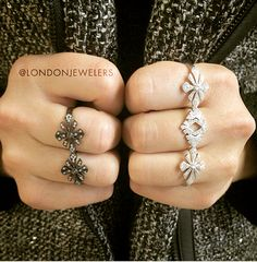 Antique style takes form in sterling silver and gold. Discover more trendy rings by Joelle at London Jewelers Americana Manhasset. @joellejewellery #londonjewelers #americanamanhasset #joelle #jewelry #rings #sterlingsilver #blackgold #whitegold #antique #style #trendy #love #newyork #instadaily