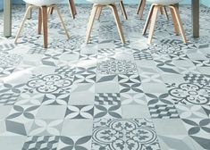 Le vinyle effet carreaux de ciment / Home / Cement tiles dining room / Beautiful Floors