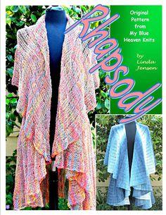 Rhapsody Double Cape Garment - Machine Knit Pattern via Etsy