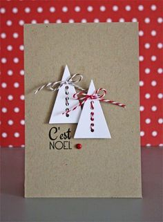 Read information on Making Your Own Christmas Cards Homemade Christmas Cards, Easy Christmas Crafts, Christmas Gift Wrapping, Christmas Tag, Homemade Cards, Handmade Christmas, Holiday Cards, Paper Cards, Diy Cards