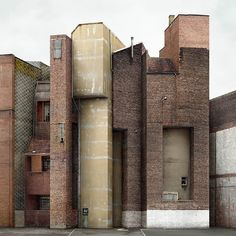 Filip Dujardin creates his own fantasy architecture out of gritty urban images he takes of buildings near his home in Ghent, Belgium. Art Et Architecture, Contemporary Architecture, Chinese Architecture, Futuristic Architecture, Modernisme, Concrete Jungle, Built Environment, Brutalist, Industrial Shop