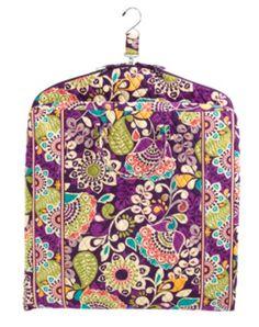 Garment Bag   Vera Bradley Plum Crazy